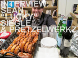 "Interview with Sean ""Lucky"" Siegle, local soul DJ, and creator of Pretzelwerkz.By PedroYou might know Sean ""Lucky"" Siegle as a local DJ. His nights are established and notoriously fun: Soul Party! Saturdays at the Elbo Room, Nightbeat at the Edinburgh Castle, and the weekly slow jams party Lost & Found at The Make-Out Room. But he's more than just a DJ - he's also a pretzel master. No joke. Lucky grew up in a town that had such a surplus of pretzels they actually dumped old pretzels on the road to melt the winter ice! Pretzelwerkz can be found at the Elbo Room, and at Rooky's – perhaps the salted soft pretzel saved your drunken self without you even realizing it. It was quite tasty treat if you remember. I sat down with Lucky at the Elbo room a few weeks back to discuss his pretzel legacy and what led him to nail down the prefect pretzel. Pretzelwerkz pretzels can be found at the following locations:Elbo Room - Thursdays, Fridays and Saturdays 5pm-2amRooky's - Saturdays 12-6pmNight Fog Reader: Tell us about how you got started making pretzels.Sean ""Lucky"" Siegle: I made pretzels just out of personal desire because I couldn't find an authentic one in San Francisco. I'm from a place called Reading ""Pretzel City"" Pennsylvania. My grandfather moved there from Bavaria in his 20s, my dad was born there, and he sold pretzels on the corner when he was a kid. I did the same thing as a kid. It's been inherited in the blood. In fact, there's more pretzels made and consumed there than anywhere else in the states, something like 80 percent of the pretzels in America are produced there.One of the impetuses behind this is seeing a pretzel on the San Francisco ""100 things to eat before you die"" list. I went there and got it, and it was an $8 super pretzel. I know what a real pretzel looks like, and what a frozen twisted pretzel looks like. One of my best friends growing up, his grandfather invented the pretzel twisting machine, and his dad made it into this whole pretzel twisting business. Basically every non-handmade pretzel that you eat in America is made by this machine. So I went and had this pretzel, and was so disgusted by the fact that something like that would be on the ""top things to eat before you die list."" I said, ""crew this, I'm going to make a real pretzel.""What makes your pretzel a pretzel?It's an old world recipe that's been modernized by using only 100% organic and sustainable ingredients. We've gone to the ends of the earth to get everything right. The salt that we use is $10/lb alone.  What kind of mustard do you use for your pretzels?I use a mustard that I have imported from a Jewish deli in Brooklyn. It was the best one we found out of all the ones we tried. The name is undisclosed at this point.Do you think pouring nacho cheese from a machine ruins the integrity of the pretzel?Yeah, I would say that definitely. A lot of time and effort goes into making these pretzels – and to taint it with something artificial is probably getting away from the purpose.You told me that you've been working on the pretzel for a while. How long have you been doing it for?I worked on the actual research and development for 2 years before I started giving them to people. After that I've been selling for them for over a year.So long did it take you to memorize that knot? Did you really like tying your shoes as a kid?I worked on the knot until I got my own personal take on it. I tied them conventionally for years before I realized it was a lot easier to make them upside down and tie the knot at the bottom. I had a lot of trouble tying my shoes and telling time as a child – they were two of the hardest things I learned to do.You once told me that your dad said you really ""nailed it."" So did you really ""nail it""?I would say that the east-coast blue collar stereotype would hold true in this situation. People aren't really going to sing your praises unless you do something that holds true to their hearts. Compliments don't come easy, let's put it that way.Did you know that the pretzel used to be called the ""dough knot""?No. I didn't.I made that up. But seriously, tamale vs. pretzel - who wins?It depends on what market you're speaking to. They're so culturally different. They both go great with beer, and it just depends on what you're in the mood for – something south of the border, or something from the south of Germany.Are you aware that there are corn dogs, bagel dogs, but no pretzel dog? Just sayin'Actually, there are pretzel dogs.Oh.Be sure to check out Pretzelwerkz at Rooky's, and check out Lucky DJing at Nightbeat on Saturday (6/25) at the Edinburgh Castle."