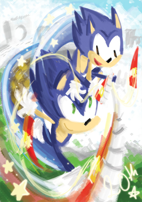 Happy 20th Anniversary Sonic The Hedgehog! <3