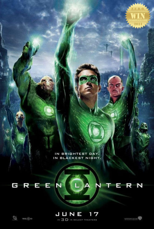 "Green Lantern (2011) A test pilot is granted a mystical green ring that bestows him with  otherworldly powers, as well as membership into an intergalactic  squadron tasked with keeping peace within the universe. Critics expected what? My least favorite hero goes on the big screen… my expectations were set to ""medium"". Was X-Men: First Class (2011) and Thor (2011) a tough act to follow? Perhaps. An Action-adventure sci-fi fantasy! By serious action director Martin Campbell. This just wasn't in his realm of expertise. I feel that they tried to put too much into the story/film. There was just too much happening… And the far more important details were left open for the sequel? They should have solidified the character first. Ryan Reynolds makes a terrific Hal Jordan! His acting skills were tested and he brought it. His wing man or wing woman is the sultry Blake Lively. Who was smokin' in this movie. It took me a while to recognize her. The ever-so-evil Peter Sarsgaard plays the demented and possessed professor, wonderfully. The interstellar police/Lantern Corps is led by Mark Strong aka Sinestro (who's story didn't unfold?!?!?). He is the villain! Green Lantern: Emerald Knights (2011) told (hinted about) his story better. Green Lantern's weakness? There was just too much CGI work here… Clancy Brown, Geoffrey Rush and Michael Clarke Duncan add talent to the animated characters. But those big names couldn't fix the digitized look of the movie. I didn't like the ""oath"" bit, but i enjoyed the film as a whole. This was ranked as a ""win"" but bordered ""ok"" because of the obvious flaws (kiddie). Regardless, DC has come up with a watchable film, which is just one of those set in preparation for bigger things. People are being a bit too harsh in their critique."