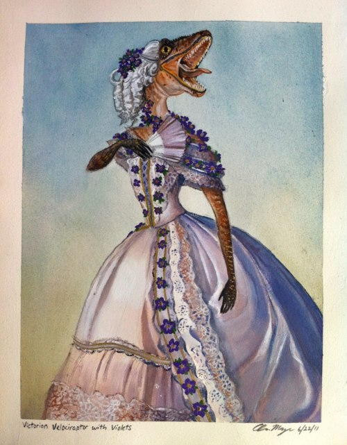 hello-zombie:  adam mazur created this victorian velociraptor BECAUSE IT NEEDED TO EXIST  AKLJFDJKSDFAKLJFSD-  IT IS TOO WONDROUS.