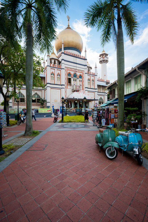 Masjid Sultan, or Sultan Mosque, in the Kampong Glam District. Singapore.