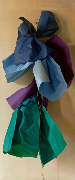 Claudio Bravo Four Blue Papers 2010