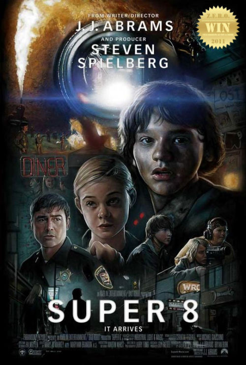 "Super 8 (2011) After witnessing a mysterious train crash, a group of friends in the  summer of 1979 begin noticing strange happenings going around in their  small town, and begin to investigate into the creepy phenomenon. Well, hello there 80s!!! J.J. Abrams takes a knee and opens wide taking in all the Spielberg he can. He had me with Star Trek (2009) and then this ""viral driven"" anticipated film of the year came out… Not just your average eye-candy sci-fi flick, this one's got heart! Very Steven Spielberg: E.T.: The Extra-Terrestrial (1982) meets The Goonies (1985)with some horror sci-fi elements and Abrams signature ""lens flare/glare"" effect. A character driven kiddie adventure! Finally ""substance over style""… well not really. This was visually spectacular motion picture. So much eye candy partnered with a story that we could all learn from: Letting go. The humor was spot-on and the casting was just right. And you gotta have the fat kid! Was it all hype? No. There is something ""special"" about Super 8, not as the imagination would picture it. An old idea made new, pretty cool. Fun for the whole family! I'd say this was a ""steady"" film, that brought me back to my youth. *I ain't gonna say more because critics have spoiled the fun for me (prior to my viewing), i wouldn't wanna do that to my readers."
