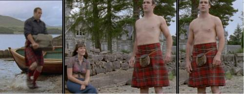 "bethfoolery:  A forty minute episode of ""Monarch of the Glen"" and while it was perfectly nice to watch him haul rocks, rescue maidens and stand around in his kilt, he didn't utter a single word. Dear Rory McCann, your natural accent, please. Also, you have a fantastic smile - it is quite unfortunate that Sandor Clegane never smiles. But then, his life kind of sucks a lot, so it's not as though I blame him. Mmmm. Kilts. Sorry, what was I saying?"