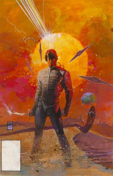 heyoscarwilde:  the original artwork to Marvel Comics Dune movie adaptation circa 1984 illustration by Bill Sienkiewicz :: via comicartfans.com/
