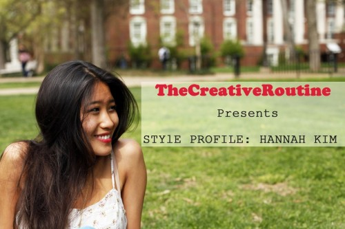 Style Profile: Hannah Kim I do believe I'm growing an obsession with flare pants. Perhaps it's all the All the Pretty Birds that I've been reading, but there's just something so elegant and feminine about them. As brilliant as flare pants are, it's amazing you don't see women rocking them in the streets more often. All the reason more though for me to stop Hannah for an impromptu photo shoot when I saw her wearing these teal or turquoise (or whatever color these are) flare jeans. There's no better way to elongate a female figure than a pair of flare pants. Bonus points if they're high-waisted. Hannah's aren't. But the striking color is more than enough to give off a feminine air of sophistication, elegance, and carefree-ness. The perfect attitude for the summer months. Ah the youth!   But the real brilliance is in the amazing way she accessories. A wise man once said that accessories are a necessity. (A quick Google search will show that said man has said this on several occasions, but you do emphasize important things right?)   Her accessories serve as a great complement for her flare jeans, tying the entire outfit together. The consistent gold-colored theme of her jewelry works great with her skin, as well as with her top. The watch, the necklace, the rings. Even her purse has gold-colored patterning on it. It's this kind of thoughtfulness and attention to detail that can really make an outfit. I must say, out of all of her accessories, my favorites are the deer head necklace and the ring from Gorjana. It's just not often you see pieces like those.   Overall, this is a pretty great outfit for summer frolicking. There's a lot of tips to be taken from this for anyone looking to find the perfect look for this summer. Bright and complementary colors, smart use of accessories, and a general youthful exuberance will rule the day.  Cheers! *I know that content has been slow as of late around these parts. Thanks for bearing with me guys, and hello to all my new followers. You're all greatly appreciated.