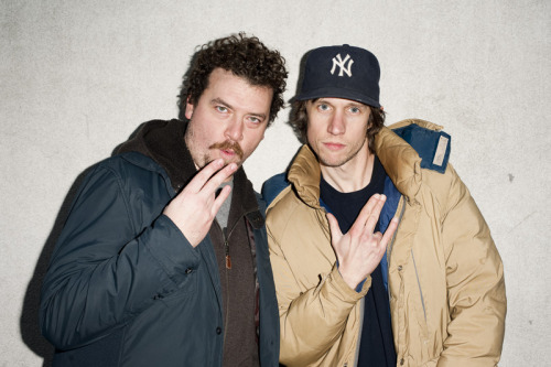 swan-son:  Danny McBride, aka Kenny Fucking Powers and me in New York City.
