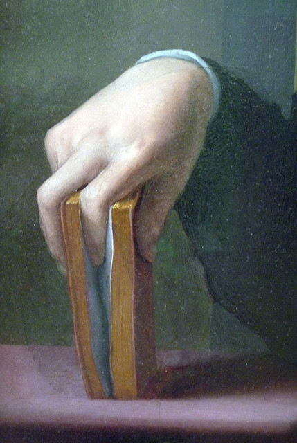 Detail of Portrait of a Young Man (1530s) – Bronzino (Italian, 1503–72)