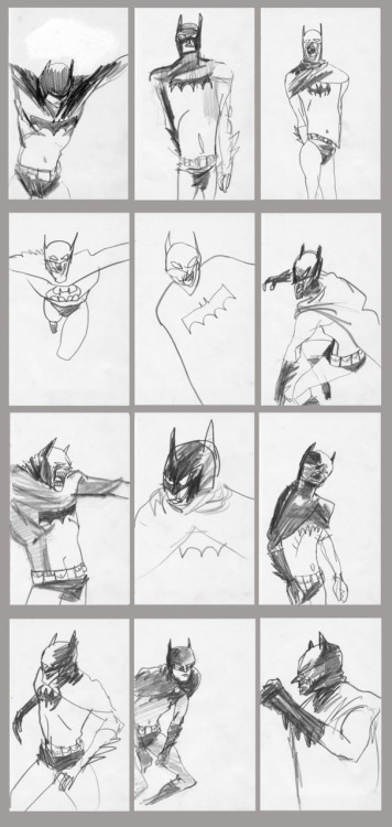 Bat-Man drawings I squeezed out as I was being overtaken by sleep sedatives.