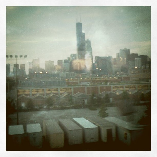 Chicago I miss you so. This was taken from the train window as I was leaving.