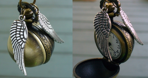 wickedclothes:  GIVEAWAY: GOLDEN SNITCH WATCH-NECKLACE! WickedCloth.es is having a reblog contest! To enter: Follow WickedCloth.es  Reblog this post, in its entirety, once. Winner gets a Golden Snitch watch-necklace! Winner will be picked on July 6th by random drawing of all who entered.