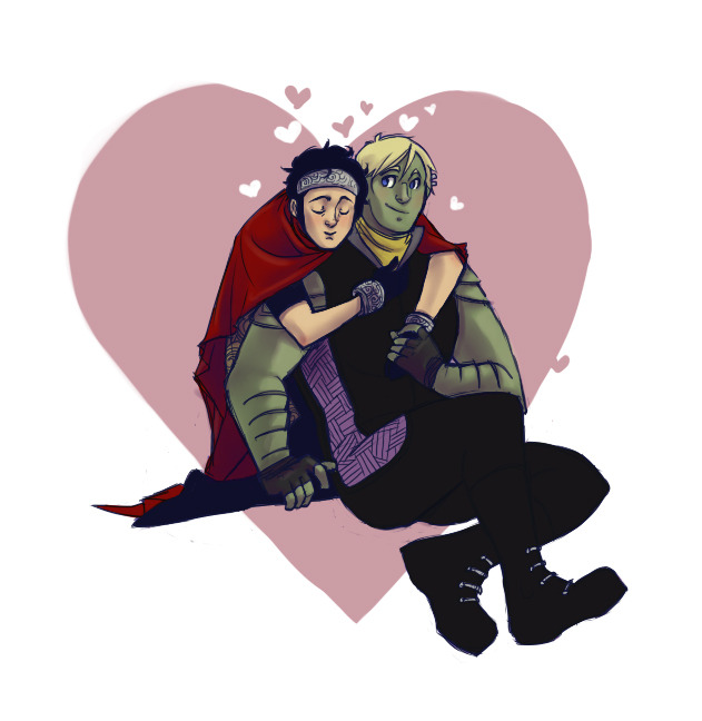 junkstuffsupreme:  Busted out a sappy Young Avengers doodle because I THOUGHT it was bed time, but it is apparently still comic book time.  Anyway- Happy Valentines DAY!! …What do you mean it's June?