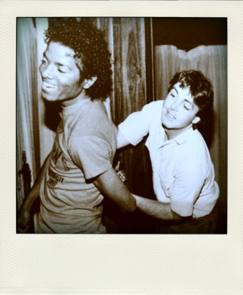 sprbd:  Michael Jackson & Paul McCartney
