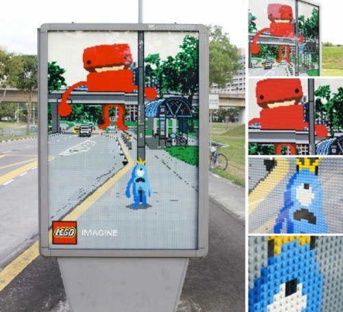 helloyoucreatives:  Fantastic lego outdoor work. Find out more at http://www.paper-plane.fr/2011/06/lego-saffiche/