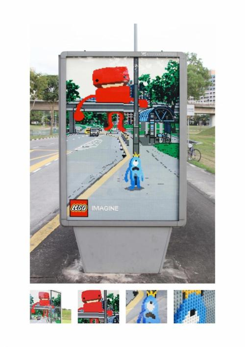 Sometimes brands just get it. Lego demonstrates advertising very well in this ad. Utilizing their already creative product to finish a landscape ad telling a story about monsters on what seems like an ordinary street.  MPISA loves Lego monsters