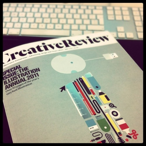 How gorgeous is the cover of this month's @creativereview? Illo by @grundini (Taken with Instagram at ustwo™ MILLSVILLE™)