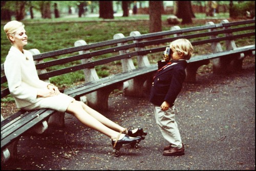 Nadja & Warren in Central Park  by Arthur Elgort (American Vogue 1995)