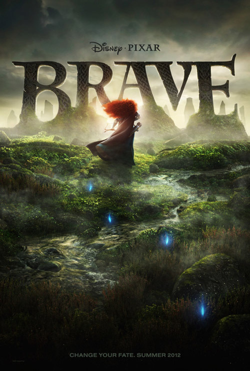 First teaser poster from Pixar's Brave Pixar have released the first teaser poster for the upcoming Brave. There will also be a teaser trailer attached to Cars 2 showings.After seeing concept art and an official image over the past few months, fans can finally get a glimpse at the first official poster.Brave is set in the Scottish Highlands, and is the first Pixar film to feature a female hero as the lead character.