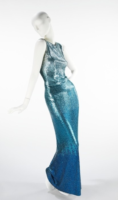 Norman Norell c.1953 I love the ombre effect used with (what appears to be ) beading.