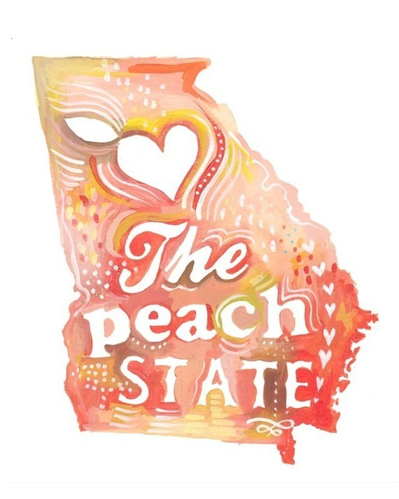 (via Peach State 8x10 by thewheatfield on Etsy)