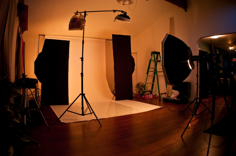 anhimalhouse:  the old studio setup at our place..   This studio has been retired, but hopefully we can find an office space to setup another studio.