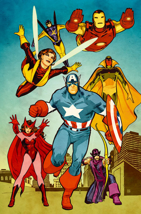 agentmlovestacos:  The Avengers by Cliff Chiang