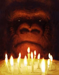 Celebrating Coco the gorilla 40th birthday! Artwork by Chase Stone.