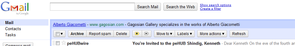 Dear Google, I have been to many exhibits at the various Gagosian galleries in NYC.  With that being acknowledged, I am not rich enough to afford sculptures by Alberto Giacometti (not yet anyways).  Although I would love to be able to afford some art made by Richard Prince, Damien Hirst and Cy Twombly.  Feel free to send donations my way.