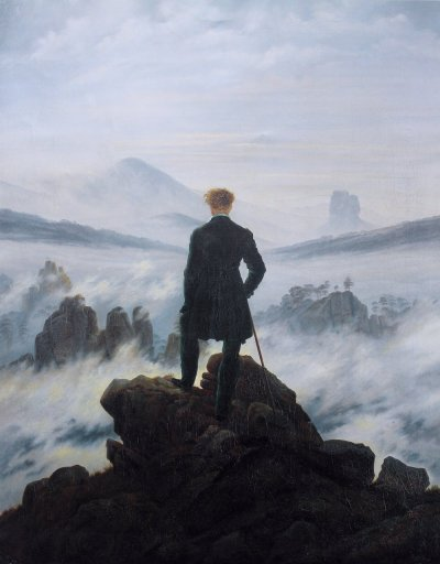 vanstanley:  Wanderer above the Sea of Fog, by Caspar David Friedrich, 1818