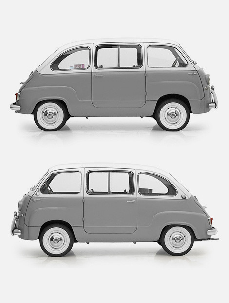 artunion:  The Fiat 600 Multipla (1956-1966) is altogether so much better looking than today's version. - Art Union | Facebook | Twitter