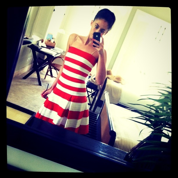 dress and hotel room by Oscar de la Renta. (Taken with instagram)