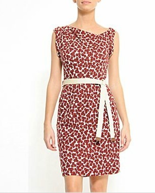 This MNG by Mango dress reminds me of the red printed dress Emmy Rossum was spotted wearing recently. And since it's for their JC Penney collection, it's only $55 (on sale from an original price of $110)! (MNG by Mango Knit Dress with Ribbon Belt, $54, JC Penney)