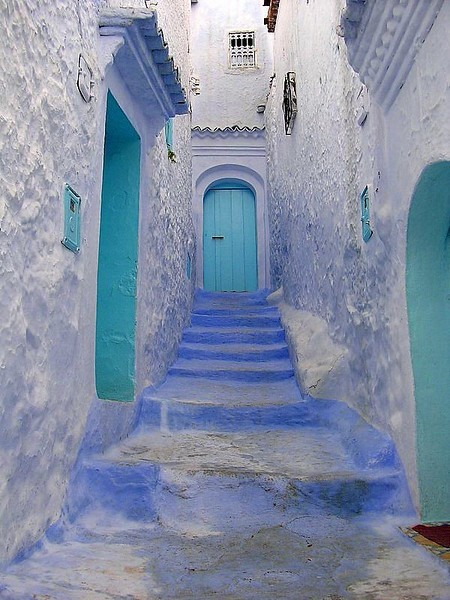 Moroccan blues (via  House of Turquoise)