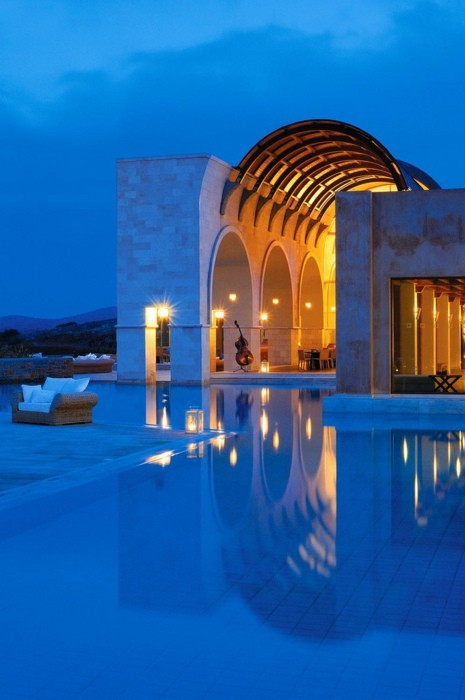 Blue Palace, Crete (via aqua break)