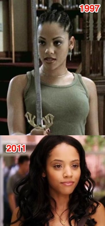 "Bianca Lawson has apparently made a career out of being in teen dramas, even though she's well out of her teens. IMDb says she's made the rounds at The WB/The CW and ABC Family — she's been in ""Buffy the Vampire Slayer"", ""Dawson's Creek"", ""The Secret Life Of the American Teenager"", ""The Vampire Diaries"", and most recently, ""Pretty Little Liars"", where she plays a sixteen year old even though she is thirty-one. Teen dramas are the fountain of youth, evidently. She must exfoliate every night until her skin feels like raw chicken."