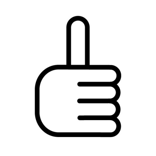 movingsideways:  Quiz Time! THIS ICON MEANS:  A. Thumbs Up! B. Let's Jerk Off! C. I Don't Know How To Eat A Popsicle!