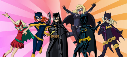 discowing:  fyeahbatgirl:  Anime Batgirls! Even including the one from that movie we don't talk about.  whyyyy isn't this a real anime  MAKE THIS REAL O.O