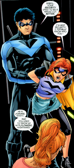 And you used to show up with flowers, Nightwing. Batgirl: Redemption Road #3