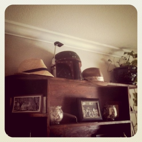 Where we keep the hats.  (Taken with instagram)