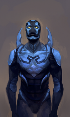 hayleyquinnn:  This bugger means serious business. Blue Beetle, by 2013.