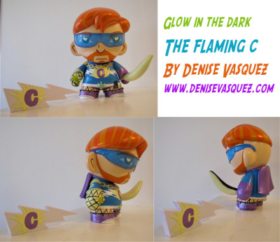 "GLOW IN THE DARK ""The Flaming C"" Conan custom celeb vinyl doll by Artist Denise Vasquez http://www.denisevasquez.com"