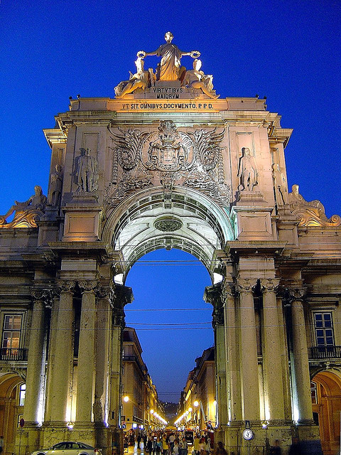 ysvoice:  | ♕ |  Arc of Triumph in Lisbon  | by  Portuguese_eyes| via fromeuropewithlove