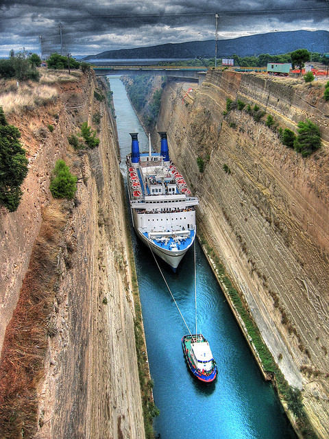 | ♕ |  Corinthos channel, Greece  | by coolmonfrere | via fromeuropewithlove