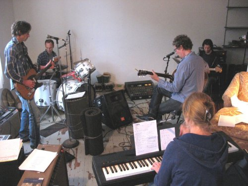 Final rehearsal before the big Gary Louris & Friends show tomorrow night in St. Cloud. Plenty of faves from Sound of Lies, Smile and Rainy Day Music. Plus…???