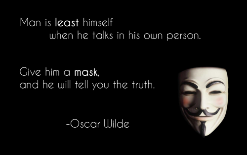 Be yourself. Wear your mask and ask.