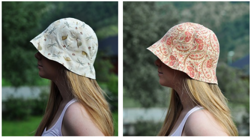 Reversible sunhat tutorial!Photo is an example of a finished one, from here.