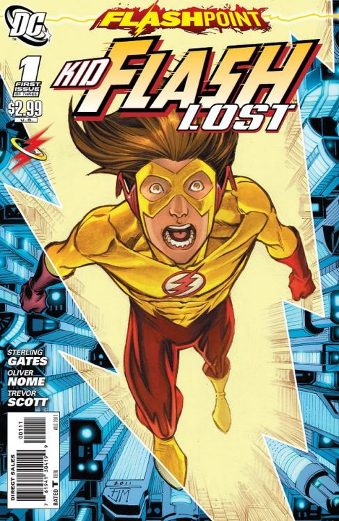 "Flashpoint: Kid Flash Lost #1 Score: 7/10 This is another one of the FLASHPOINT tie-ins I thought would be more of a ""mandatory"" read, seeing as the direct relationship with Barry and the Flash Bart has. Also the somewhat interesting ending to the Johns/Manapul run of Flash seemed to be leading into this issue. In issue #1 we find Bart trying to catch Barry, and for some reason Barry is being uncharacteristically mean. After some quick realizations, Bart fins out he is in a VR version of Central city. When he breaks out he finds himself in Brainiac's lair in the year 3011. He is being tested by Brainiac and quickly realizes that he has lost touch with the speed-force. While trying to escape, Bart runs into Hot-Pursuit who is obviously not the same person that wore the outfit in the regular Flash run. Hot-Pursuit reveals the person behind the mask, and with Bart starts to try and find a way to get back to their own time, and quick. Issue #1 was an ok story, but it was a bit confusing. There were a lot of things that were happening that weren't really explained.  They may be explained in the next issue, but issue #1 left me with a lot of question marks. The art was really well done, good character representations and great use of imagery and color. This was a good issue, not great but good. I am hoping that it explains what's going on more in the next issue. I do like reading about Bart, and he's well done in this issue. If you're a Bart fan, it is definitely a good pick-up. Also, issue #1 is a great pick up for Flash fans in general."