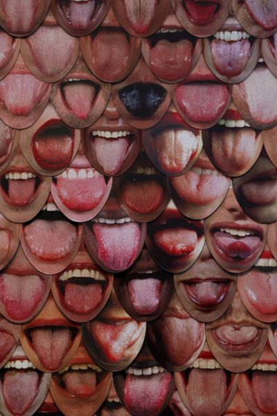 weird shit. but I likes it. #messy #tongues #collage #art #wishididit