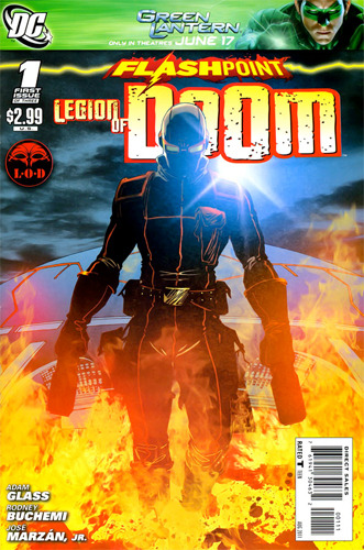 Flashpoint: Legion of Doom #1 Score: 8.5/10 Ok, I know this review is two weeks late, but after reading it I felt like this needed to be posted. Do not let the title fool you, this is not about a council of super villains. Really, the biggest similarity this issue had with the Legion Of Doom was the name and facilities. Issue #1 opens with Firestorm returning from a night of crime fighting only to be greeted by Heatwave. The pyromaniac rogue wants to become part of the Firestorm Matrix, as he believes its the best way to play with fire. The only issue in his plan is he runs into Cyborg who quickly takes him down and sends him to the super villain mega-jail built by Green Arrow industries. After establishing himself as one of the big guys in jail, Heatwave decides it is time to break out. With the appearance of a surprising cohort, it looks like Heatwave could actually succeed. The story of FLASHPOINT: LEGION OF DOOM was great. It was epic, surprising, and well written. The dialogue flows well and is supported by Buchemi's great artwork. There isn't much else to say. There are great twists and great moments in this issue; kudos to writer Adam Glass. This was definitely, in my opinion, one of the strongest Flashpoint tie-ins I have read.  I know this review was short, but to be honest there isn't much else to say then this was a great read. I definitely recommend this pick-up to anyone, especially anyone reading the main story line in FLASHPOINT. Great stuff.