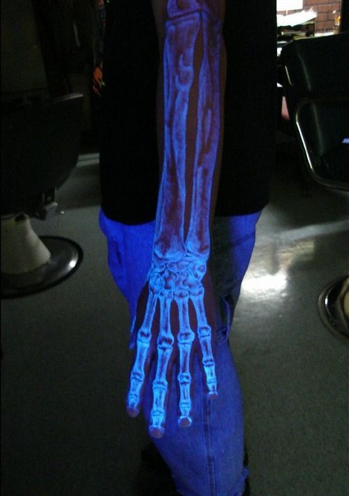 If I ever get a tattoo, it will be a UV tat. Look at how cool these things are!